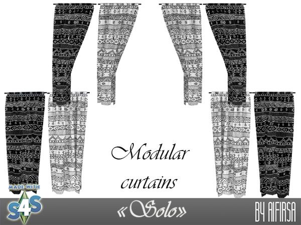 Sims 4 Solo modular curtains at Aifirsa