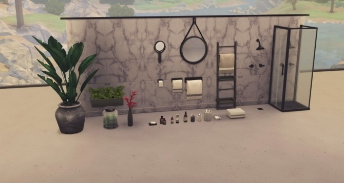 THE BAFROOM 94 piece collaborative set at Harrie image 1183 670x357 Sims 4 Updates