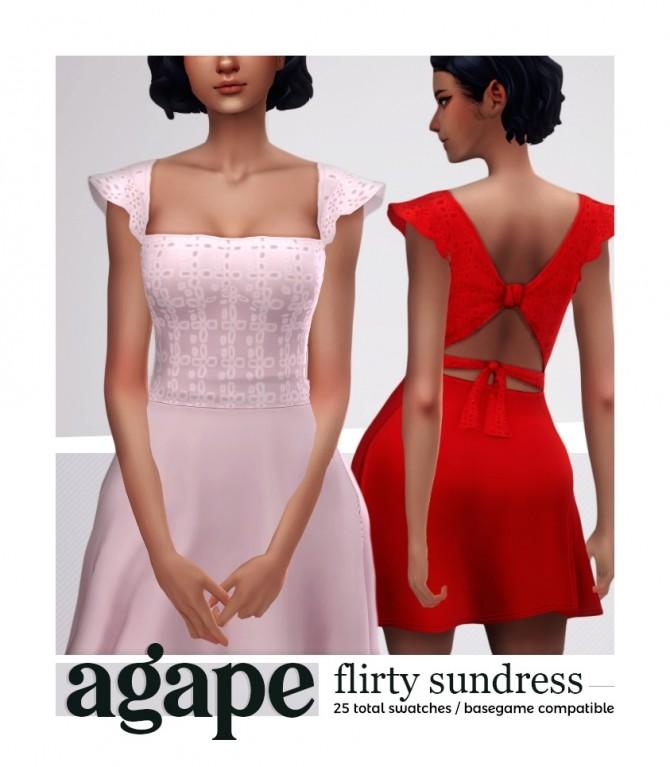 Sims 4 AGAPE flirty sundress at Viiavi