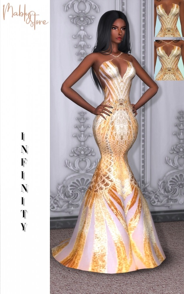 Sims 4 INFINITY gown at Mably Store