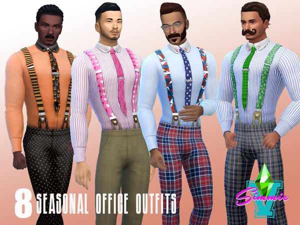 Seasonal Office Set by SimmieV at TSR image 1220 Sims 4 Updates