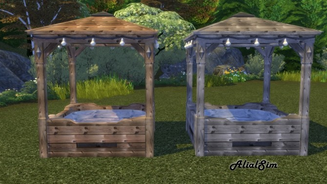 Sims 4 Rustic Hot Tub at Alial Sim