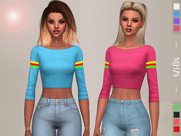Sims 4 Reanne Sweater by Margeh 75 at TSR