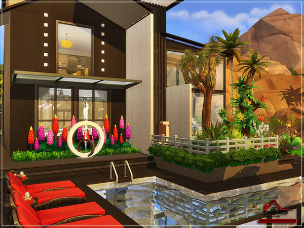 CAMELIA modern house NO CC by marychabb at TSR image 1229 Sims 4 Updates