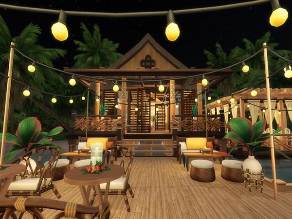 Waterfront Restaurant by Bidomaudo at TSR image 1230 Sims 4 Updates