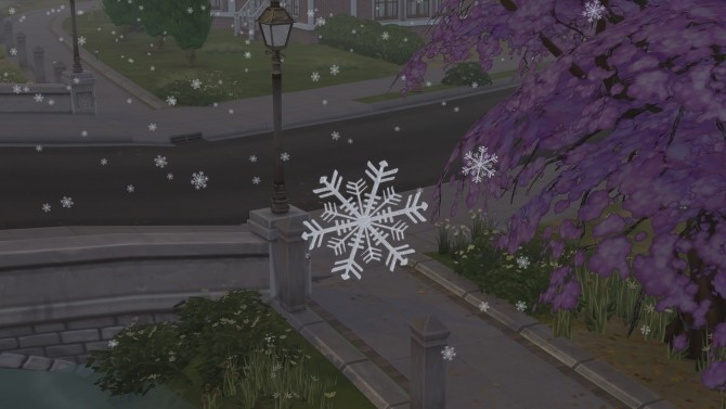 Sims 4 Real Snowflakes Override by Simaginarium at Mod The Sims