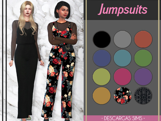 Sims 4 Jumpsuits at Descargas Sims
