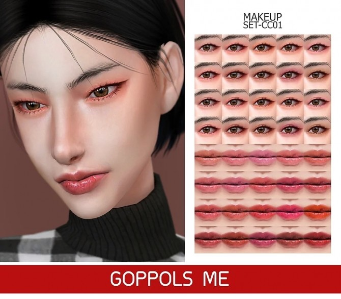 GPME GOLD MAKEUP SET CC01 at GOPPOLS Me image 131 670x586 Sims 4 Updates