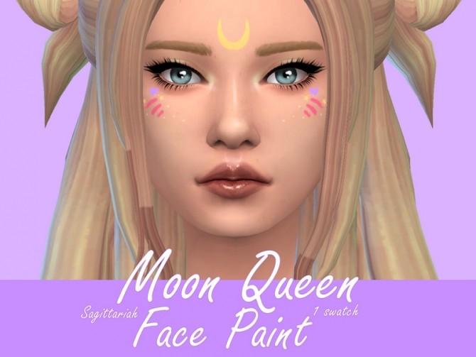Moon Queen Facepaint by Sagittariah at TSR image 13102 670x503 Sims 4 Updates