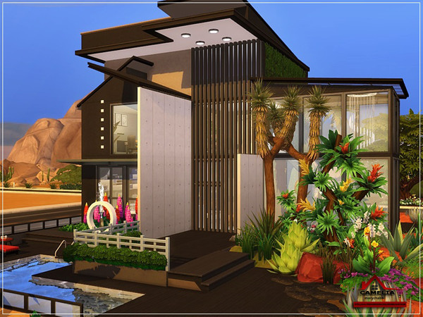 CAMELIA modern house NO CC by marychabb at TSR image 1327 Sims 4 Updates