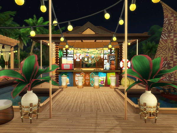 Waterfront Restaurant by Bidomaudo at TSR image 1329 Sims 4 Updates