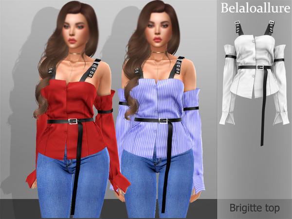 Belaloallure Brigitte top by belal1997 at TSR image 1335 Sims 4 Updates