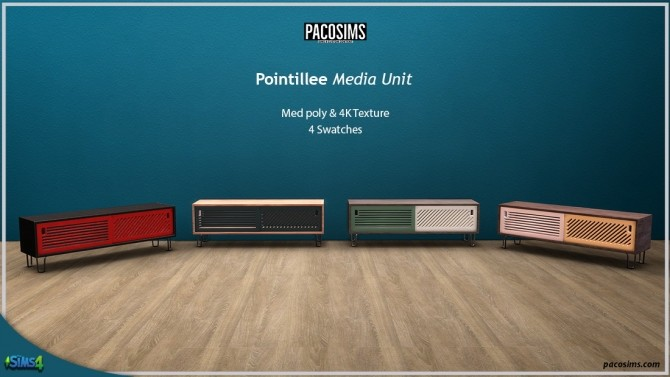 Sims 4 Pointillee Media Unit (P) at Paco Sims