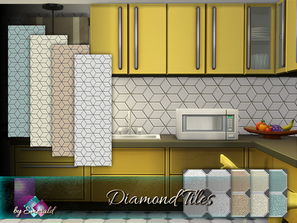 Diamond Tiles by emerald at TSR image 1360 Sims 4 Updates