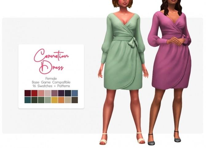 Sims 4 Carnation dress & blouse at Nolan Sims