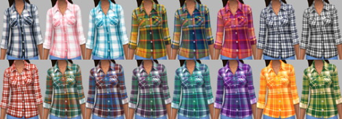 Sims 4 Elaine Shirts   February Releases Part II at Saurus Sims