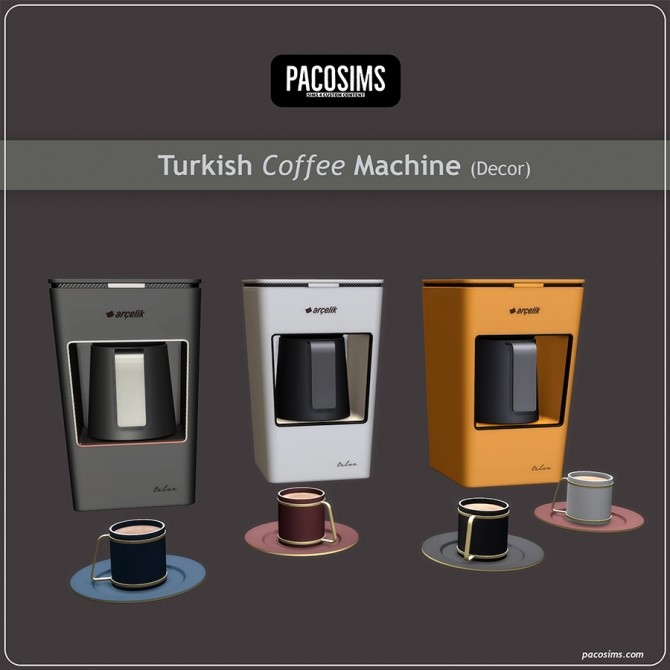Turkish Coffee Machine & Coffee Cup Decor (P) at Paco Sims image 1371 670x670 Sims 4 Updates