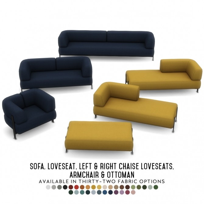 Sims 4 Moku Seating Suite   Modern Sofas in 6 New Designs at Simsational Designs
