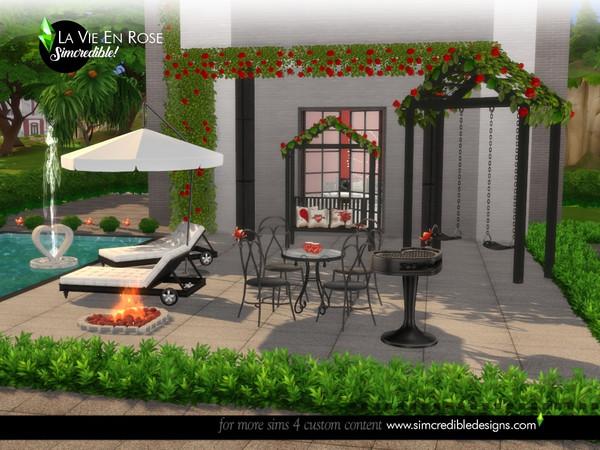La vie en rose garden set by SIMcredible at TSR image 13961 Sims 4 Updates