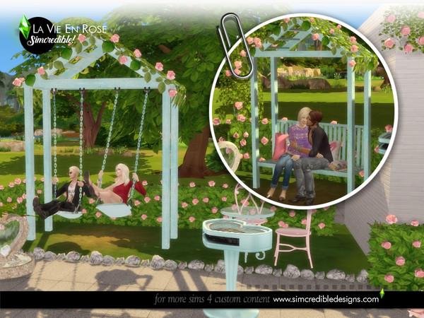 La vie en rose garden set by SIMcredible at TSR image 141101 Sims 4 Updates