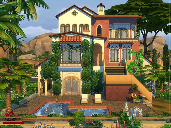 Orlonda Mediterranean traditional house by marychabb at TSR image 1420 Sims 4 Updates