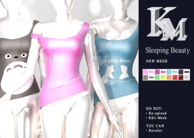Sims 4 Sleeping Beauty outfit at KM