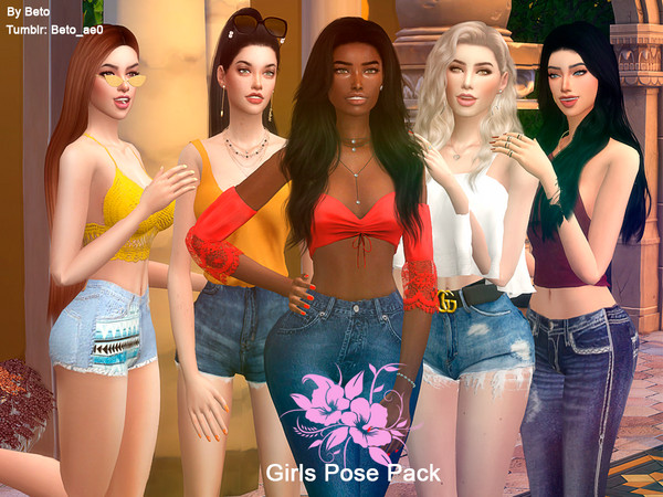 Poses of friends by Beto ae0 at TSR image 14261 Sims 4 Updates