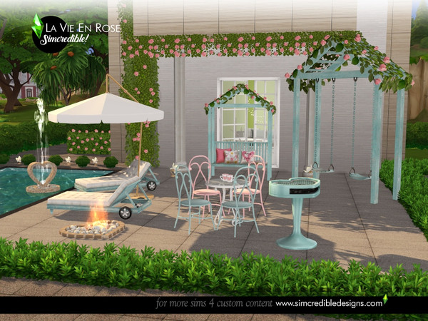 La vie en rose garden set by SIMcredible at TSR image 1427 Sims 4 Updates