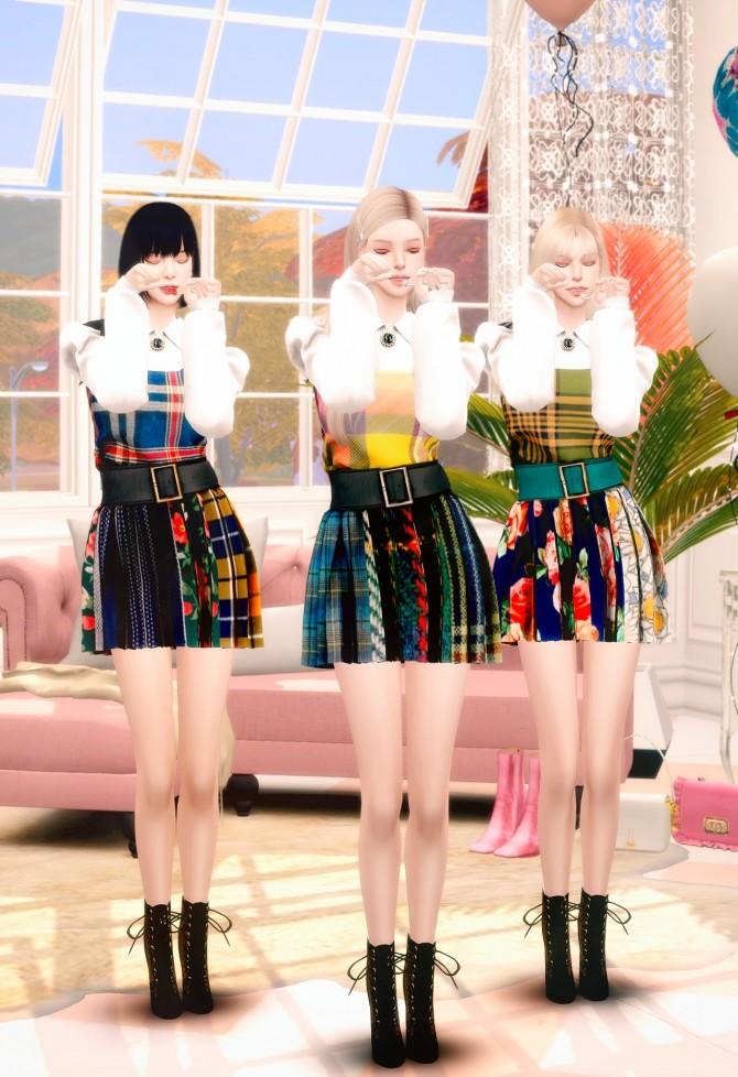 Sims 4 IZ*ONE FIESTA Stage Costume at RIMINGs