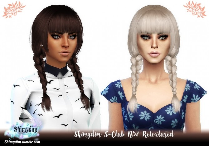 Sims 4 S Club N52 Hair Retexture Naturals + Unnaturals at Shimydim Sims