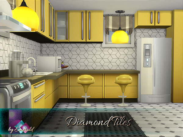 Diamond Tiles by emerald at TSR image 1448 Sims 4 Updates