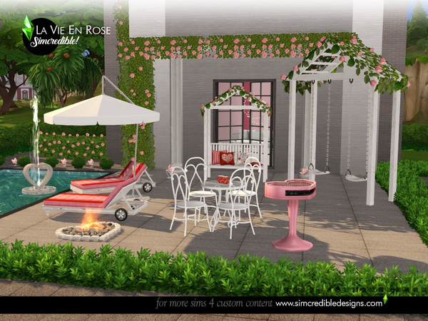 La vie en rose garden set by SIMcredible at TSR image 1455 Sims 4 Updates