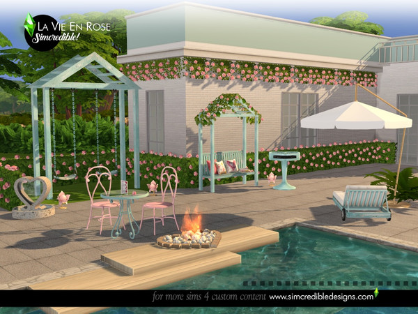 La vie en rose garden set by SIMcredible at TSR image 1464 Sims 4 Updates