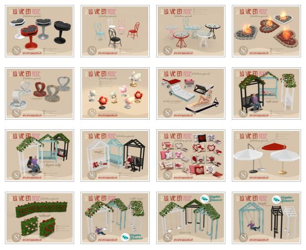 La vie en rose garden set by SIMcredible at TSR image 1475 Sims 4 Updates
