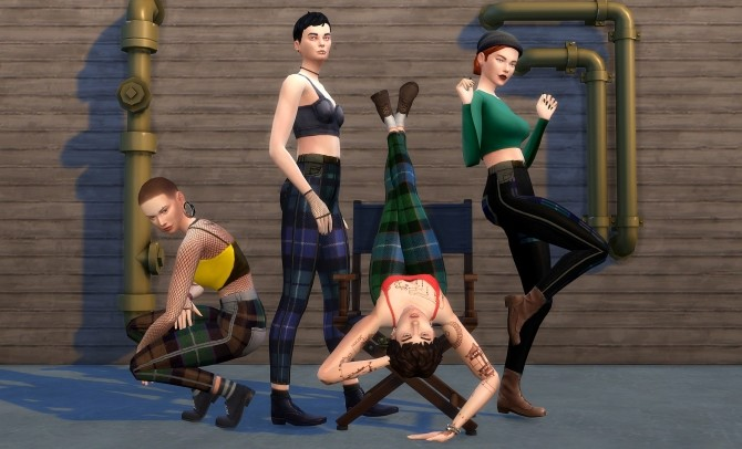 Sims 4 Plaid Skinny Pants by SimSlayer421 at Mod The Sims