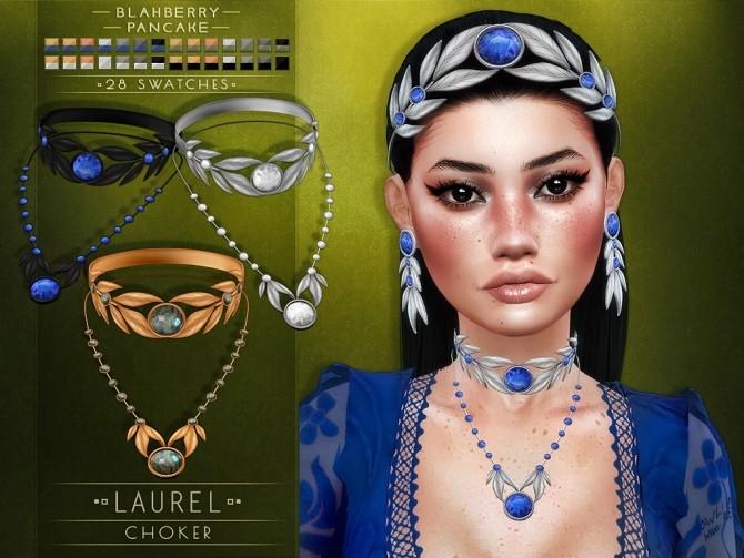 Laurel set: crown, choker & earrings at Blahberry Pancake image 15114 670x503 Sims 4 Updates