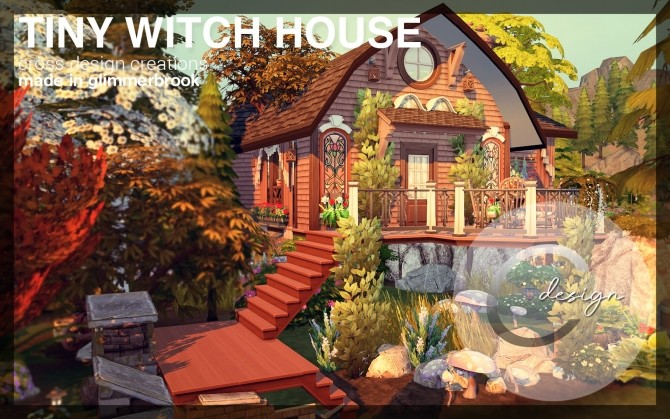 Sims 4 Tiny Witch House by Praline at Cross Design
