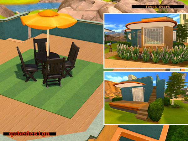Sims 4 Fresh Start tiny home by QubeDesign at TSR