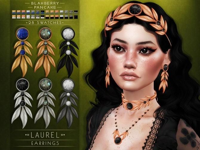Laurel set: crown, choker & earrings at Blahberry Pancake image 15211 670x503 Sims 4 Updates