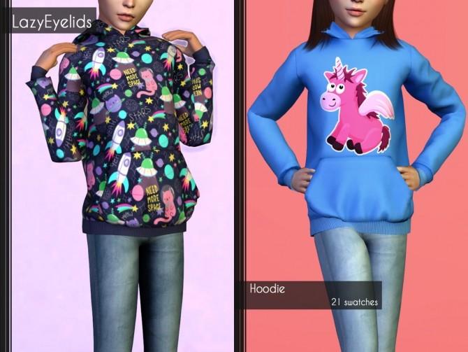 Hoodie, open shirt + skinny jeans at LazyEyelids image 1533 670x503 Sims 4 Updates