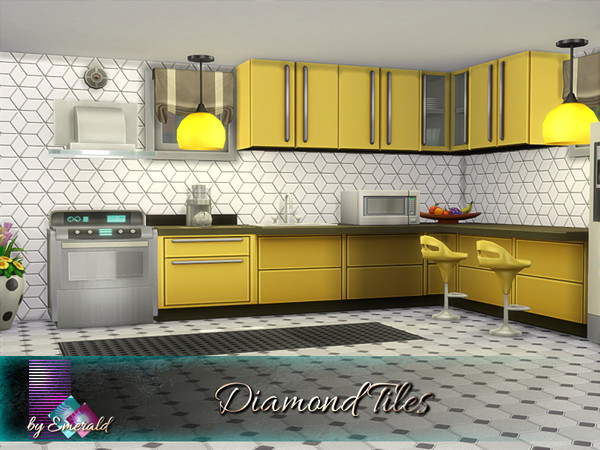 Diamond Tiles by emerald at TSR image 1539 Sims 4 Updates