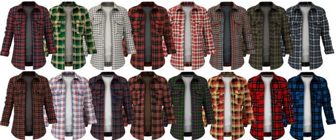Hoodie, open shirt + skinny jeans at LazyEyelids image 1562 670x279 Sims 4 Updates