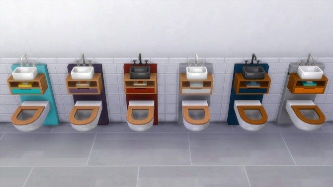 Tiny Spa Toilet/Sink Combo by K9DB at Mod The Sims image 1564 670x377 Sims 4 Updates