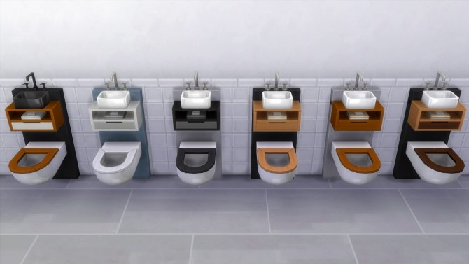 Sims 4 Tiny Spa Toilet/Sink Combo by K9DB at Mod The Sims