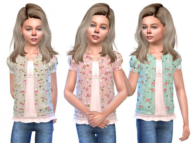 Sims 4 Cardigan for Girls 01 by Little Things at TSR
