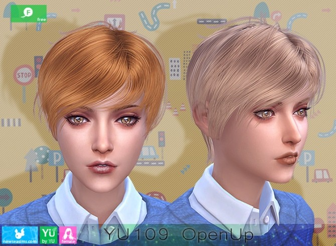 YU109 OpenUp hair F at Newsea Sims 4 image 1598 670x491 Sims 4 Updates