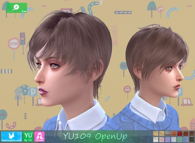 YU109 OpenUp hair F at Newsea Sims 4 image 16114 670x491 Sims 4 Updates