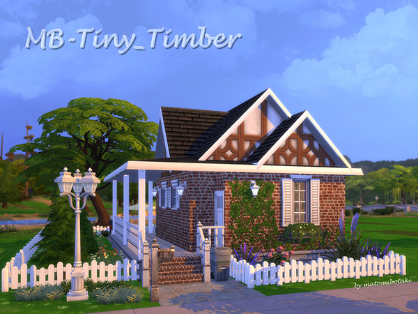 MB Tiny Timber house by matomibotaki at TSR image 1612 Sims 4 Updates