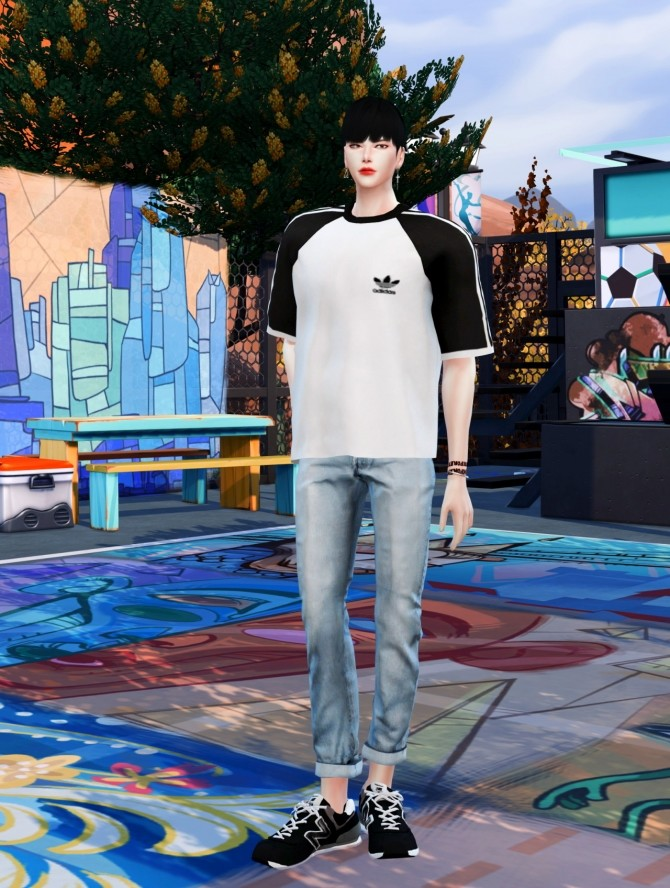 Male raglan T at Chaessi image 1616 670x888 Sims 4 Updates