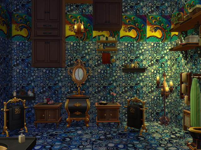Sims 4 Peacock art canvas and more walls and floors at Anna Quinn Stories